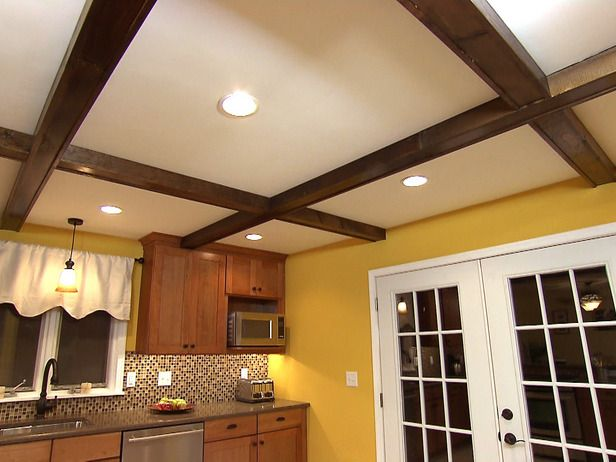 How to install faux ceiling beams videos wood ceiling for Fake wood beams for ceiling