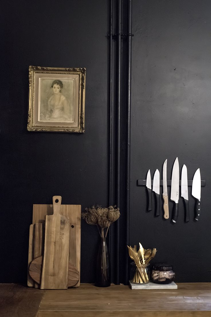 Home Renovation: Black Walls in the Kitchen / No Glitter No Glory / Pitch Black -Farrow & Ball