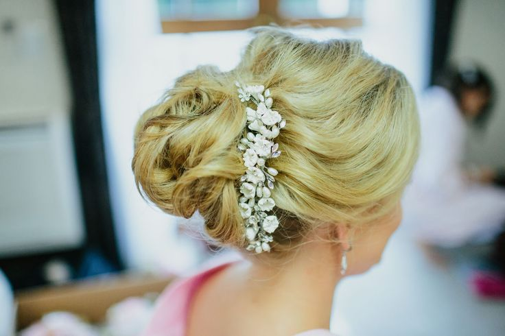 Bridal textured bun
