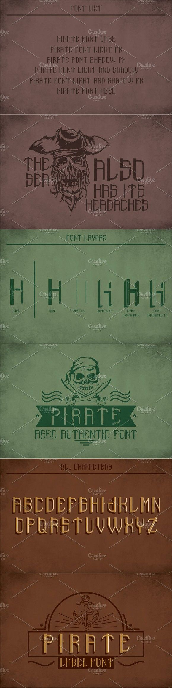 Pirate Modern Label Typeface. Pirate Fonts