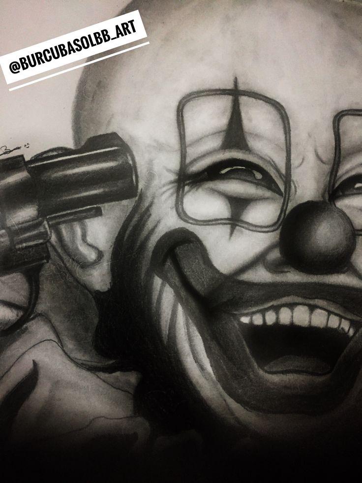 #art #artwork #clown #artist Artist :Burcu Başol