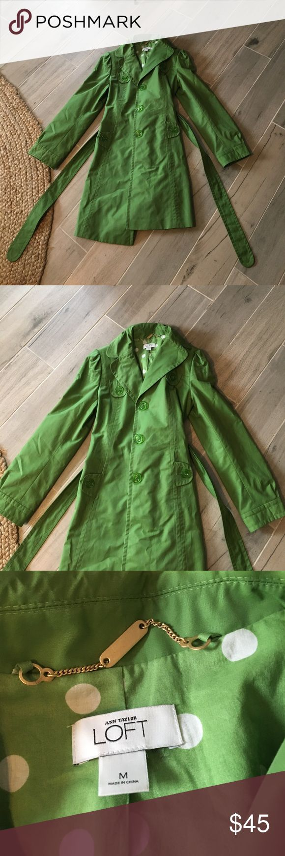 GREEN TRENCH COAT Looks in great condition LOFT Jackets & Coats Trench Coats