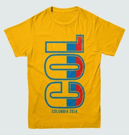 Show off you're a proud Colombian futbol supporter with this awesome Colombia 2014 Football t-shirt. Features a great oversized Colombian logo to really help you cheer on your country.  100% preshrunk cotton t-shirts.