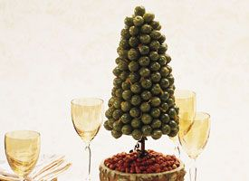 Olive Tree appetizer.  Great idea for parties!