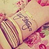 """""""Stay strong."""""""