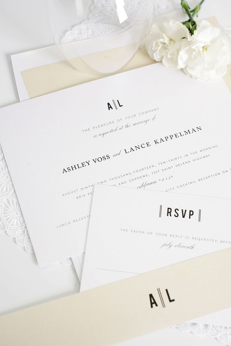 Black and white stationery #invites #classic