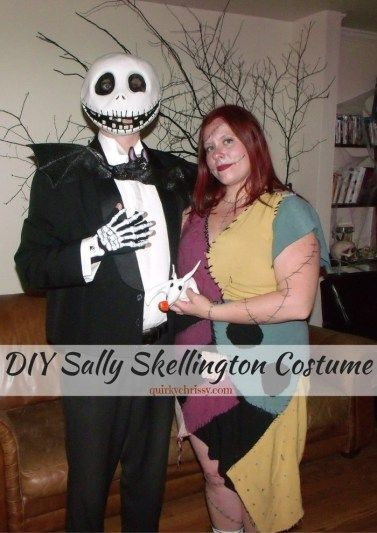 When I was looking for the perfect Sally Halloween costume, I couldn't find what I wanted. So my mom and I worked together to create this DIY Sally Skellington costume.