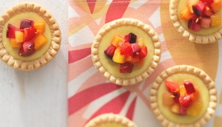 Every day is sunny with our Goat Cheese Tarts with Sunny Day Fruit Salsa!