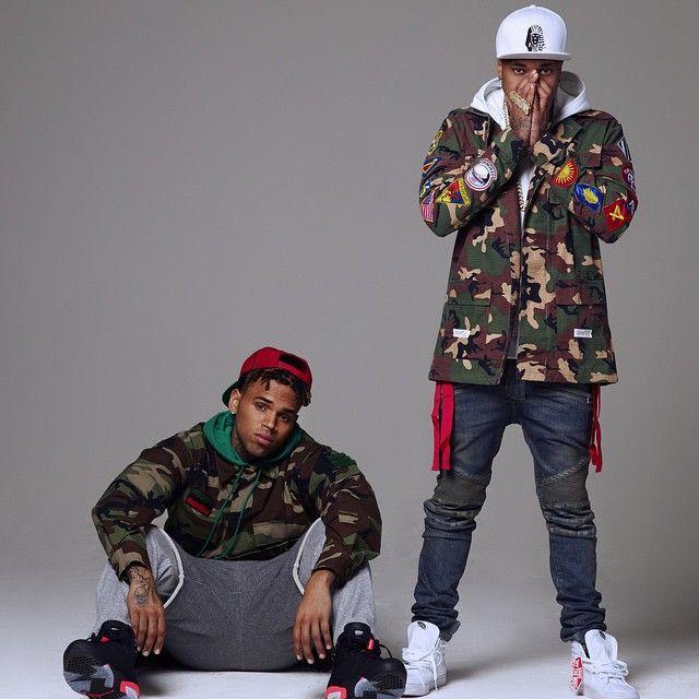 Squad Shxt Chris Brown Army Jacket SnapBack Vans Off The Wall Jordans Sneakers Trainers Footwear Dope Matching Swag