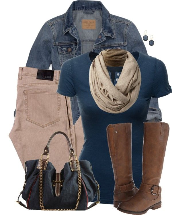 Casual Khaki Jeans fall outfit