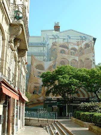 Mur peint - Quartier St Jean - Lyon