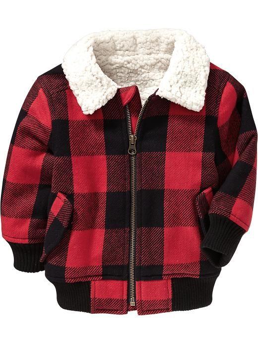 Buffalo Plaid Bomber Jackets For Baby Product Image Boy
