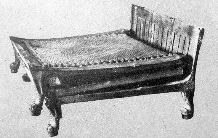 Ancient Egyptian Folding Bed Similar To One Found In Tut