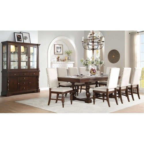 Shop For The Homelegance Yates 9 Piece Table Chair Set At Becks Furniture
