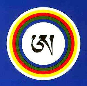 A tibetano en bindu blanco