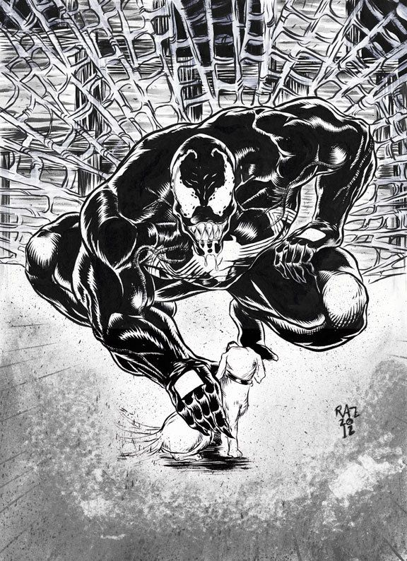 Venom commission by Ramsey Sibaja, via Behance