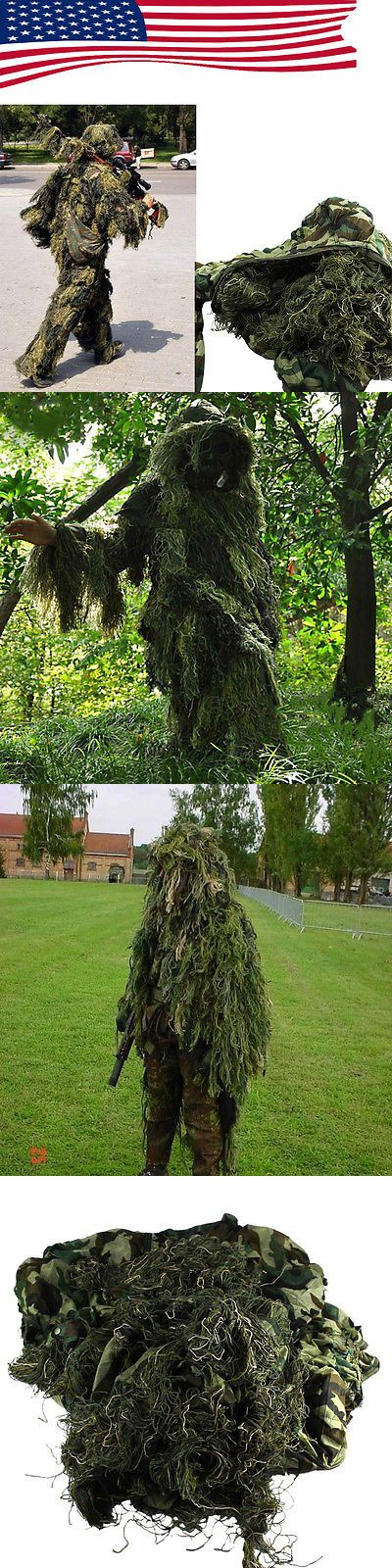 Ghillie Suits 177870: Set Yowie Sniper Camouflage Tactical Camo Suit For Ghillie Hunting Birding -> BUY IT NOW ONLY: $32.29 on eBay!