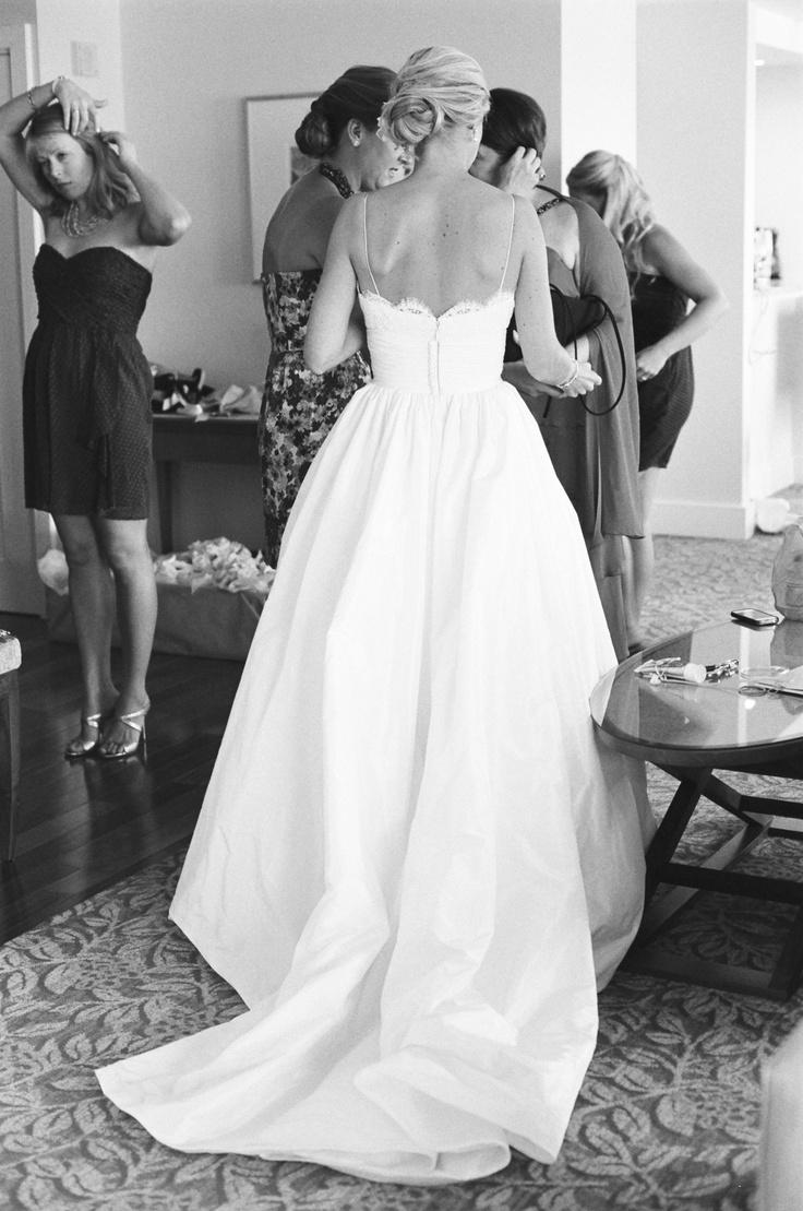 Amsale coco wedding dress details bridal amsale for Spaghetti strap ball gown wedding dress