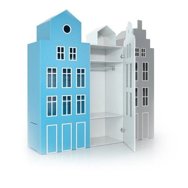 Design wardrobe - house for children