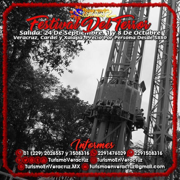 El #FestivalDelTerror De #SixFlags nos espera este 24 de septiembre, 1° y 8 de octubre saliendo de #Veracruz #Cardel y #Xalapa  ¡ Reserva Tu Lugar YA !  Más información en: Tels: 01 (229) 202 65 57 y 150 83 16  WhatsApp: 2291476029 y 2291508316 Email / Hangouts: turismoenveracruz@gmail.com http://www.turismoenveracruz.mx/2017/09/festival-del-terror-de-sixflags-2017-saliendo-de-veracruz-cardel-y-xalapa/