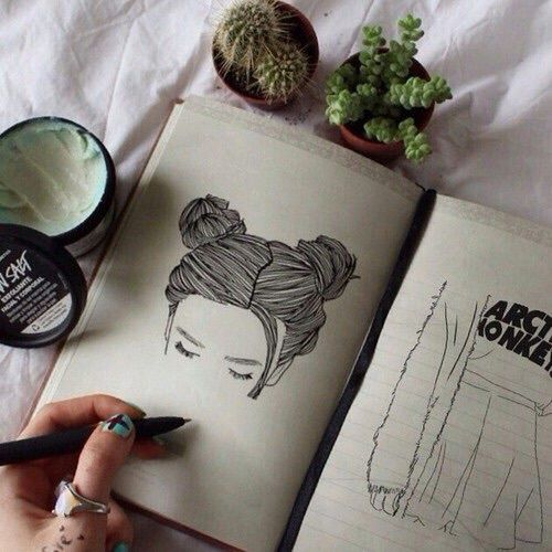 grunge, tumblr, drawing, lush bomb, pale, indie, plants, good vibes, First Set on Favim.com