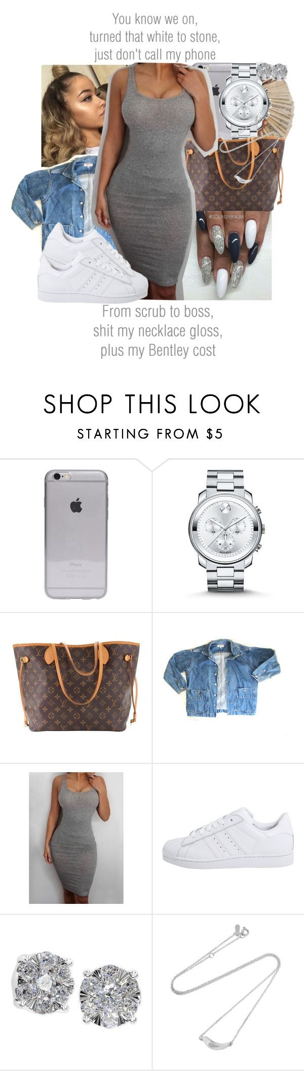 """By Any Means x Schoolboy Q"" by juicyums ❤ liked on Polyvore featuring Movado, Louis Vuitton, GUESS, adidas Originals, Effy Jewelry and Adina Reyter"