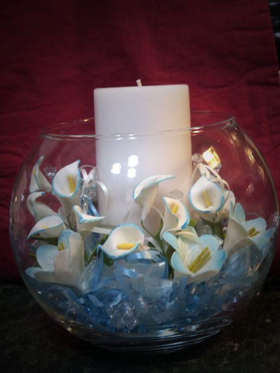 Etsy candle center piece baptism pinterest