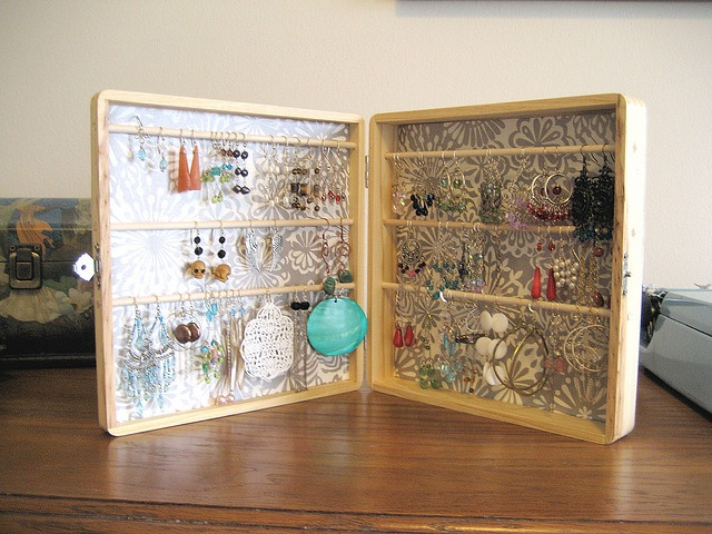 Earring Organizer Expositores Pinterest Organizing Organizations And Craft