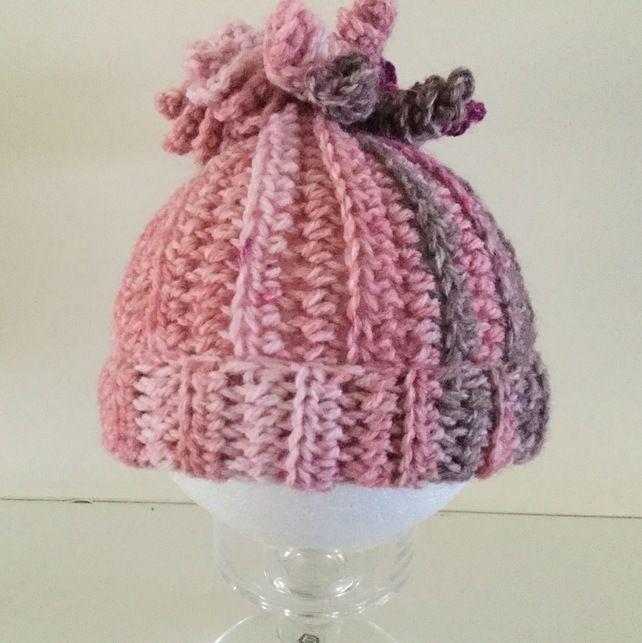 Crochet Spiral Beanie Hat for Newborn Baby Babies ...
