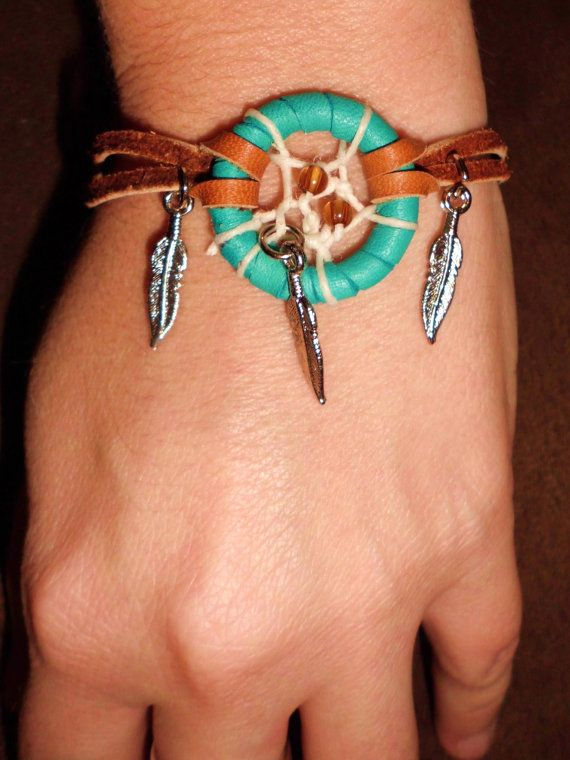 Could do something like this myself. :) Native American bracelet with modern twist. Dream by MacraMagic, $18.00