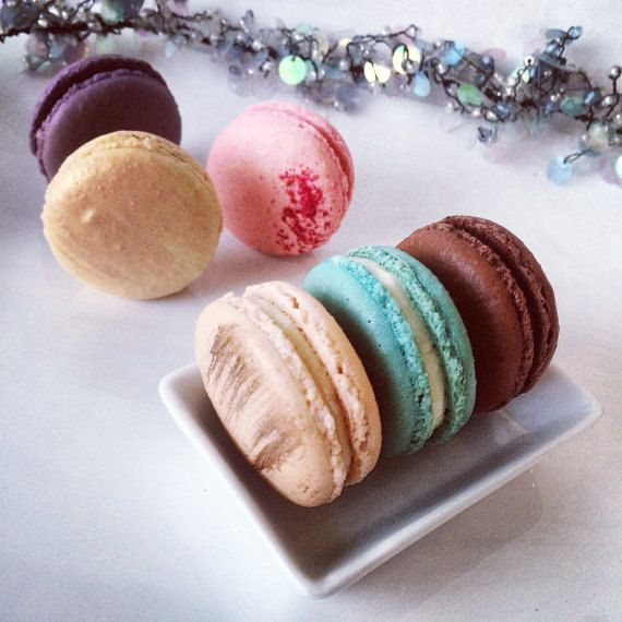 MOTHERS DAY GIFT - IF YOU WOULD LIKE TO ORDER MACARONS FOR MOTHERS DAY GIFT, PLEASE DO SO. YOUR ORDER WILL BE SHIPPED ON 5/9. PLEASE REMEMBER TO NOTE MOTHERS DAY GIFT IN NOTE TO SELLER BOX. French macarons are such elegant sweets to have at your special events or tea party. The two cookies are filled with flavored butter cream or chocolate ganache. They are delicious and gorgeous.  Our macarons are made with best ingredients. The outer crust of the cookie is crunchy and the inside is sof...