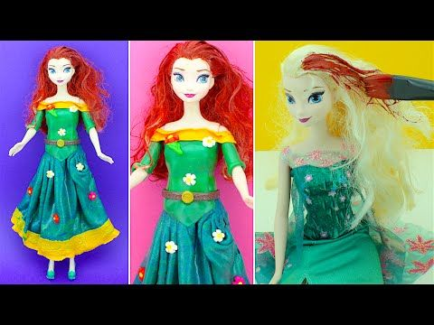 Princess Merida Play Doh Inspired Dress for Disney Frozen Queen Elsa - YouTube