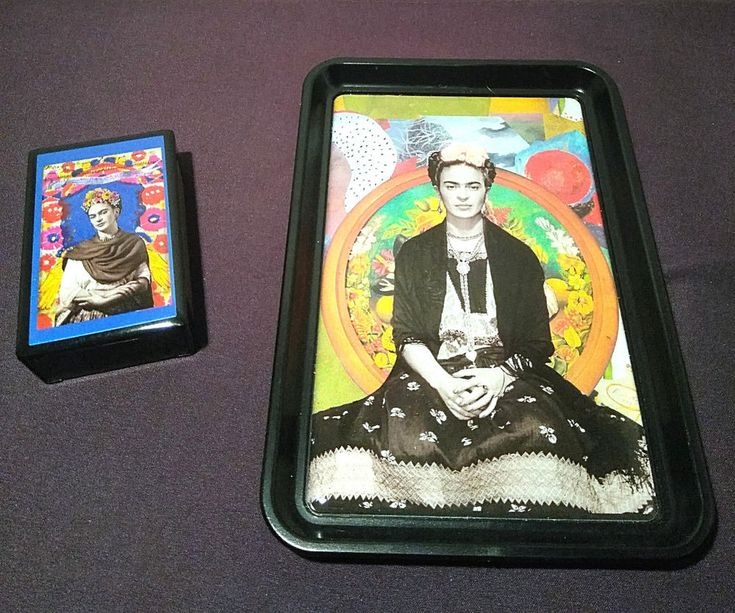 Frida Kahlo Smoking Accessories Colorful Portraits Matchbox and Rolling Tray #Unbranded