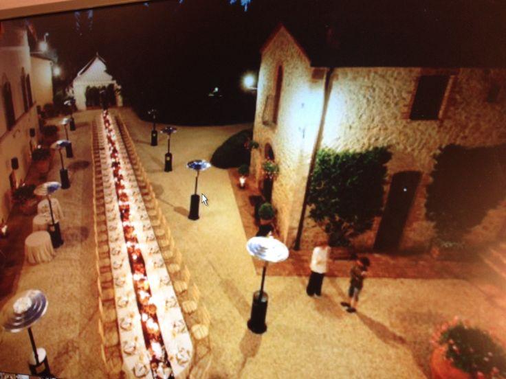 wedding in Tuscany  at Villa Collalto