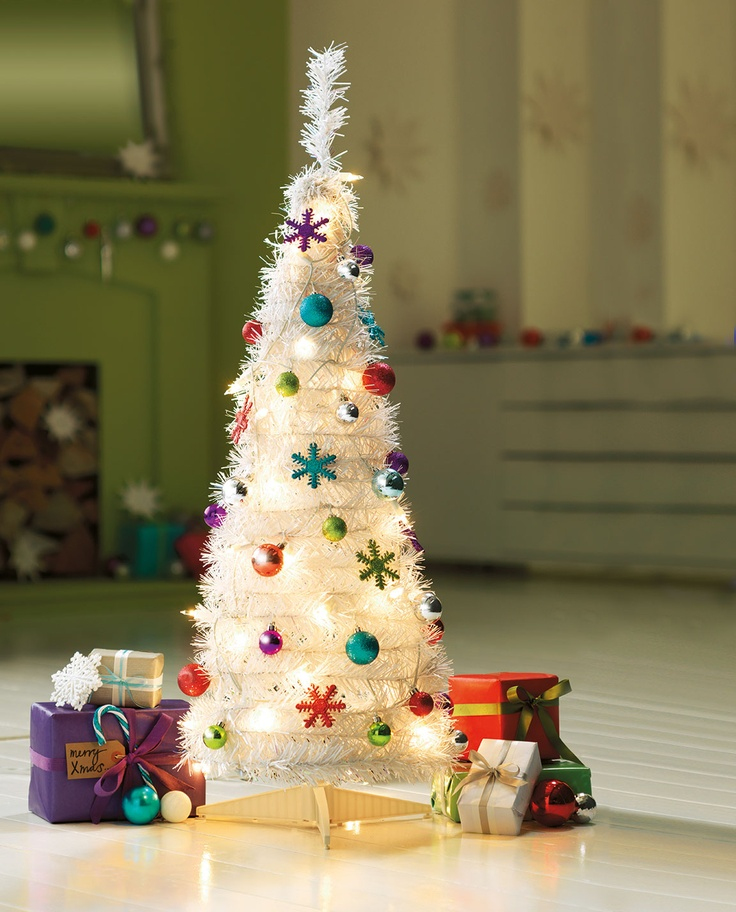 Add some festive cheer to your Christmas with this gorgeous white pop up Christmas tree, available at #Argos.
