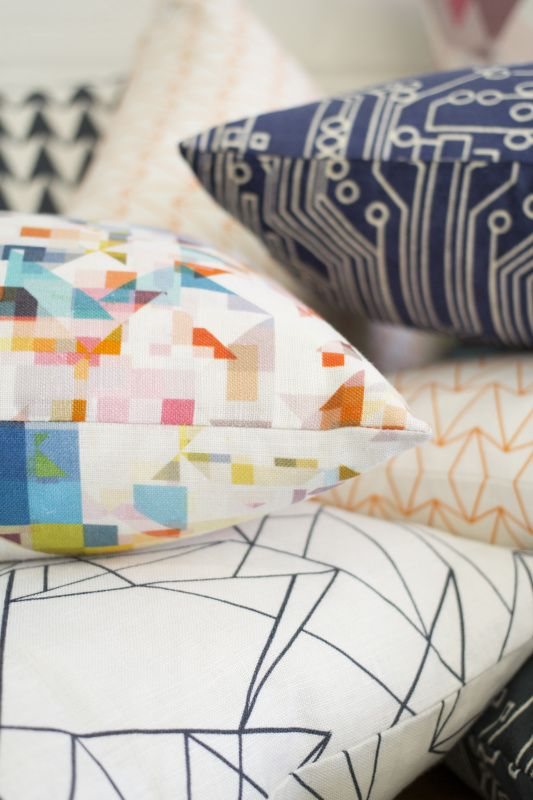 Flock's beautiful cushions are printed in the UK and come with a duck feather and down filled cushion inner. Each cushion is hand sewn and features an invisible zip.