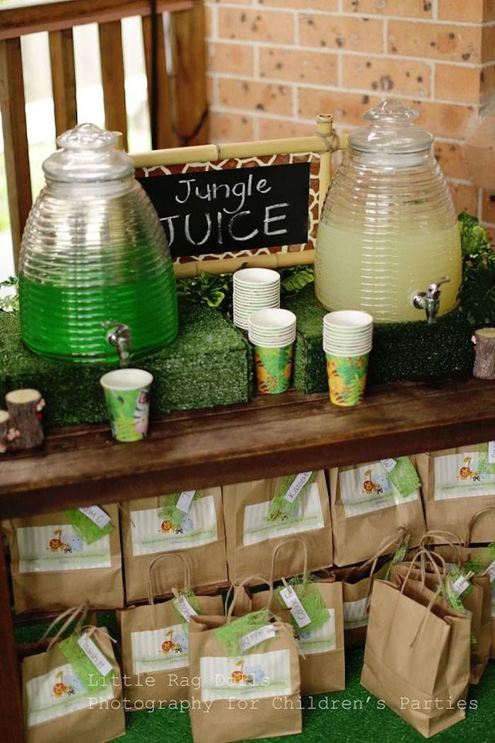Zoo Themed Baby Shower Ideas Part - 33: Jungle Juice And Water Bath Station For Baby Shower.