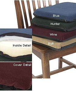 Sueded Memory Foam Non Slip Seat Cushion   Overstock™ Shopping   Great  Deals On Hudson Chair Pads