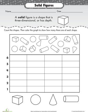 Worksheets Solid Figures Worksheets collection of solid figures worksheet sharebrowse sharebrowse