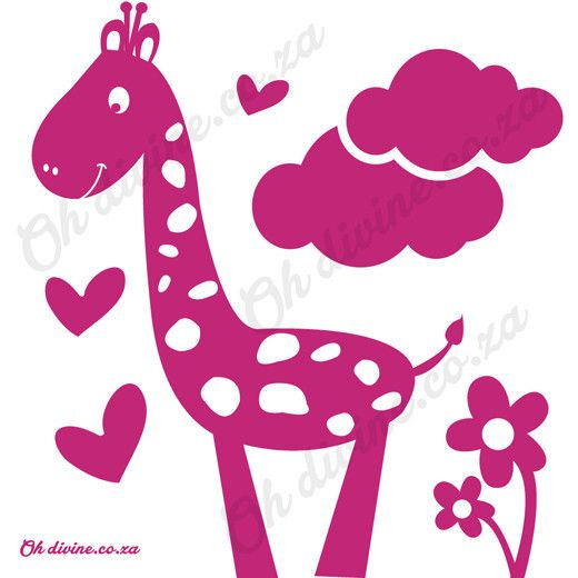 We can't leave out the tallest of the Safari animals, the Giraffe.. Order this easy to apply and remove wall decal in the colour of your choice.