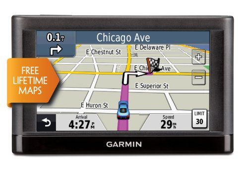 Garmin nüvi 42LM 4.3-Inch Portable Vehicle GPS with Lifetime Maps (US) Easy-to-use, touchscreen interface with a 4.3 diagonal color display. Lane assist with junction view displays junctions and interchanges with colored arrows that indicate the proper lane needed for your next turn or exit. Voice prompted turn-by-turn directions with spoken street names: Turn right on Main Street. Includes st... #Garmin #GPSOrNavigationSystem
