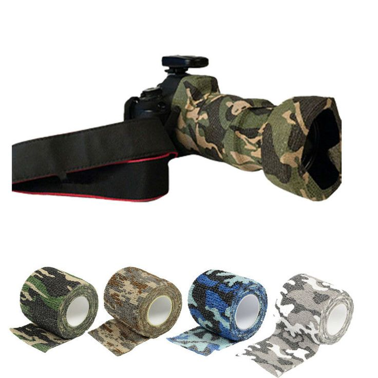 This easy-to-cut, adhesive-free camouflage tape protects and conceals weapons, cameras, binoculars, flashlights, and other gear while out in the bush. Heavy duty stretch fabric wraps around your equipment and clings to itself, conforming to any shape. It not only protects your gear, it also improves your grip and insulates your hands.