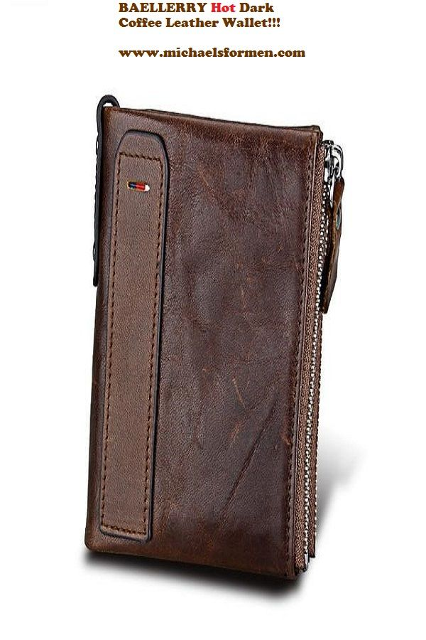 65d5503777f Crazy Horse Genuine Leather Men's Wallet with Card Holders, Double Zipper |  Mens Fashion Wallets | Pinterest | Wallet, Leather and Leather wall…