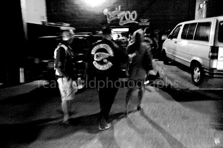 Angels in the alley. Kelowna, British Columbia, Canada. #photojournalism #streetphotography #kelowna #hellsangels #garymoorephotography #Okanagan #realworldphotographs #bikers #gang