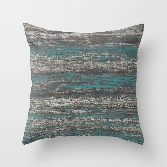 Teal Blue Dark Chocolate Grey Brown Throw Pillow Mix And Match Etsy Brown Throw Pillows Pillow Mixing Brown And Blue Living Room