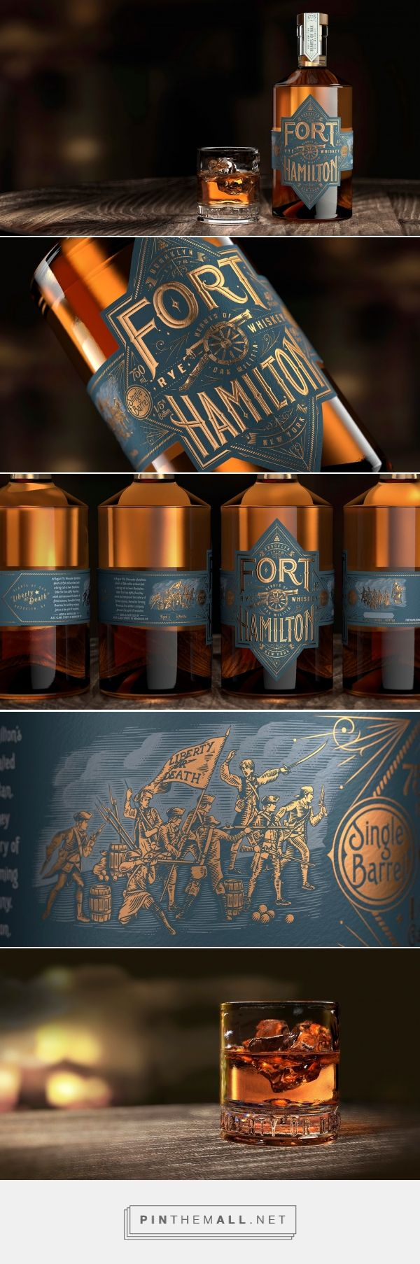 Fort Hamilton Whiskey packaging design by Bulletproof - http://www.packagingoftheworld.com/2018/02/fort-hamilton.html