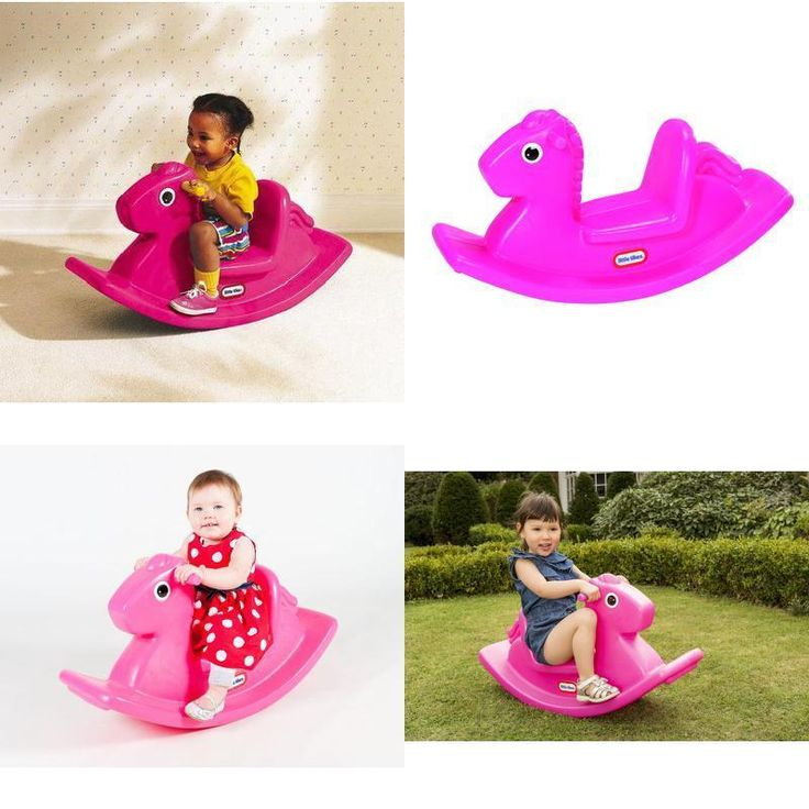 Kids Rocking Horse Toy for Girls Fun Activity Play Children Gift Pink Max 23 Kg #Little #Custom