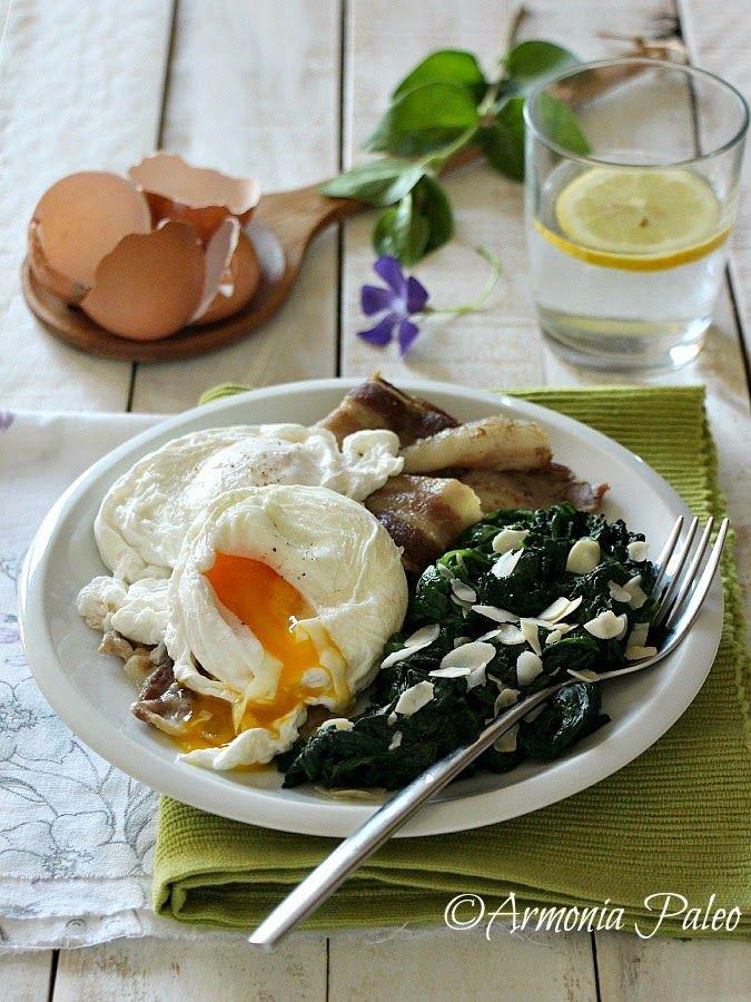 Armonia Paleo: Uova in Camicia con Pancetta e Spinaci