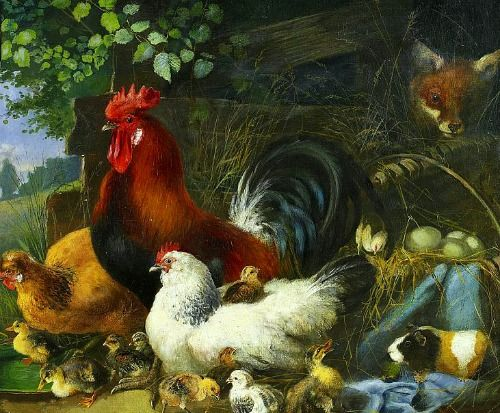 Juilius Scheuerer Visitor At The Poultry Farm 19th Century
