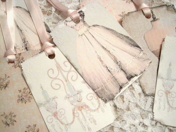 Beautiful gift tags to go with the Cinderella Party idea.